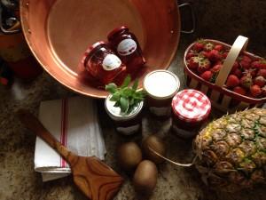 confitures maison petit déjeuner de la Ferme du bois Paris